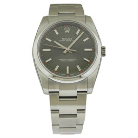 Rolex Oyster Perpetual 114200 Olive Green Dial Stainless Steel 34mm Mens Watch