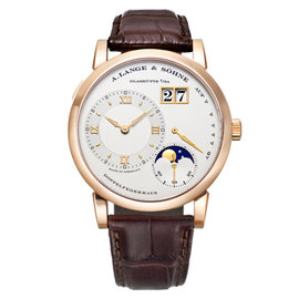 A. Lange & Sohne Lange 1 109.032 18K Rose Gold Manual Wind Moonphase 38.5mm Mens Watch