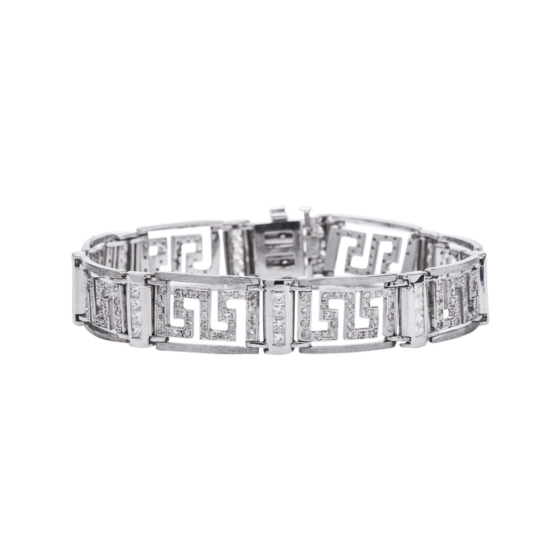 "Image of ""14K White Gold and Diamond Bracelet"""