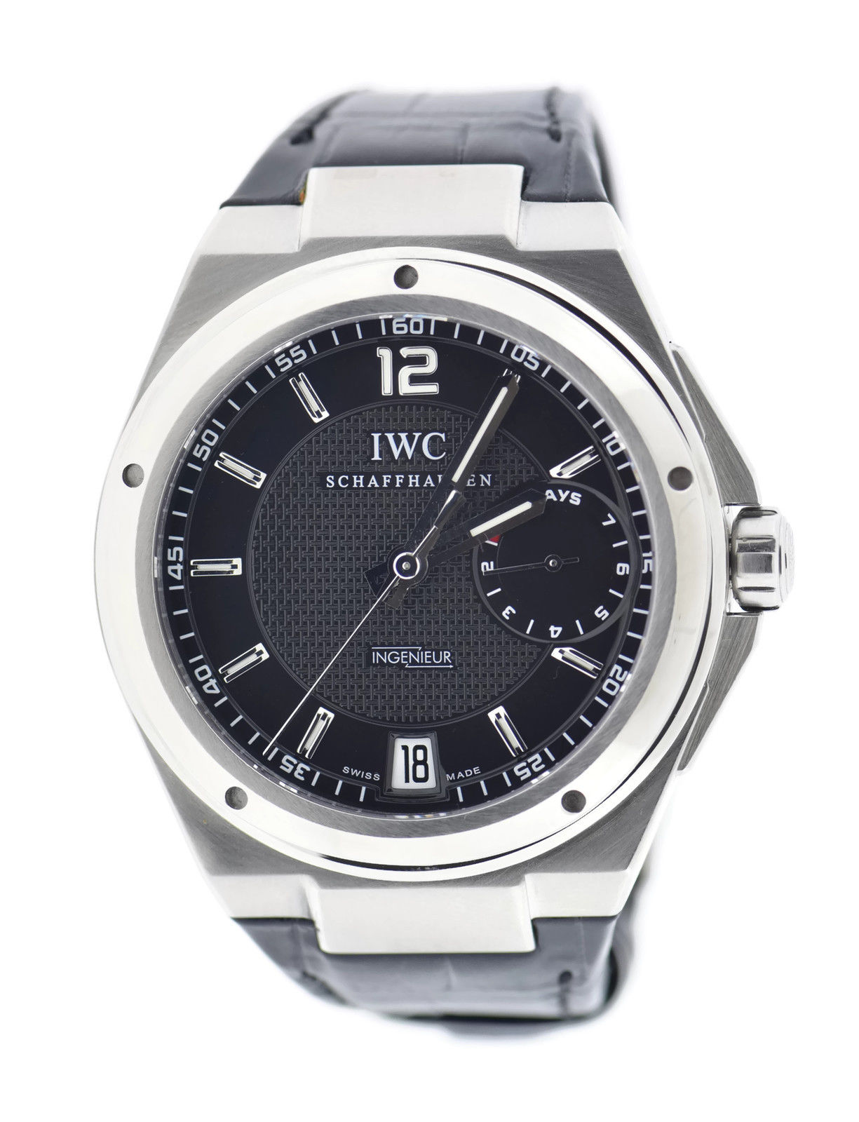 """Image of """"IWC Ingenieur 500501 7-Day Power Reserve Stainless Steel 45.5mm Watch"""""""