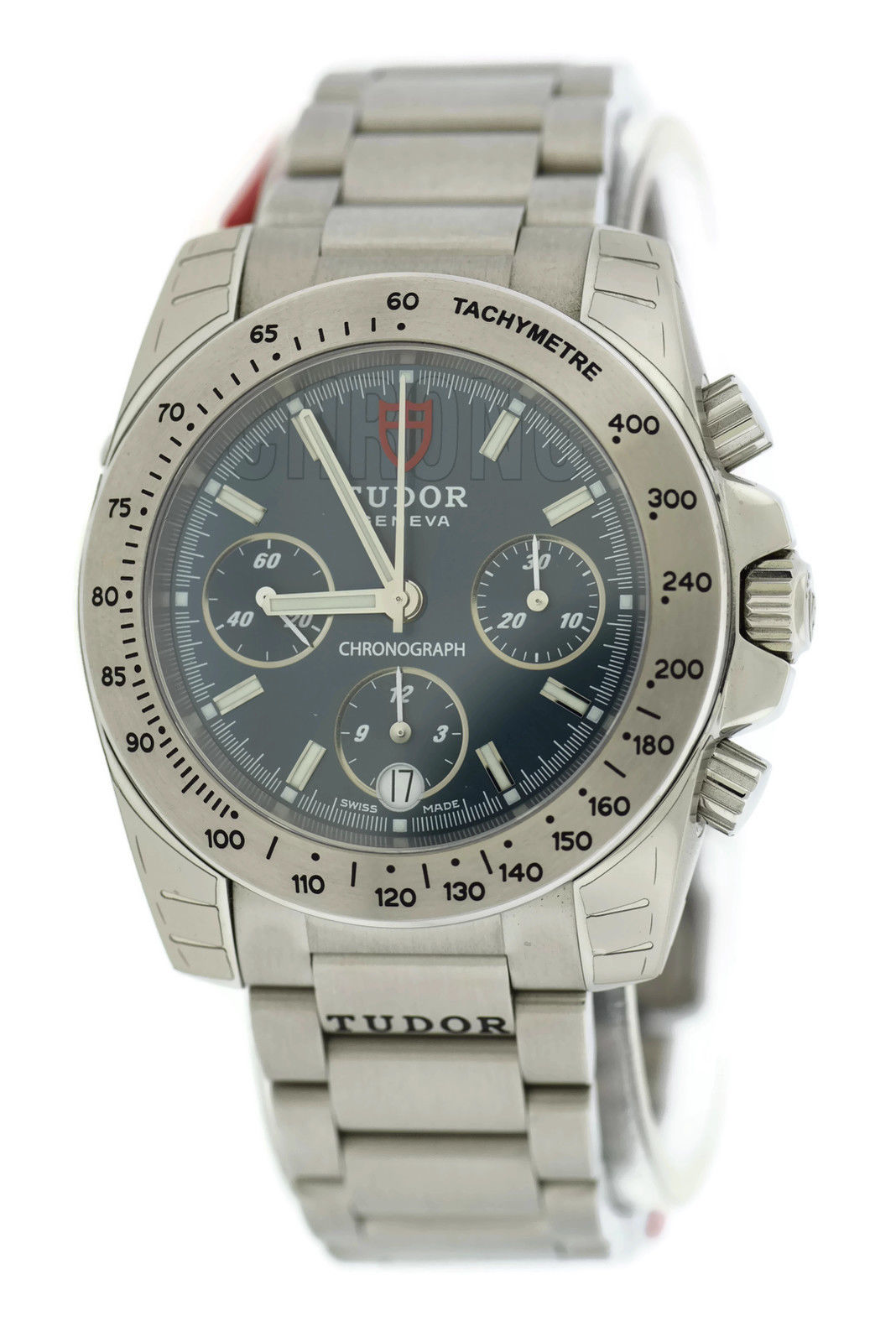 """Image of """"Tudor Sport Chronograph 20300 Blue Dial Stainless Steel 41mm Mens"""""""