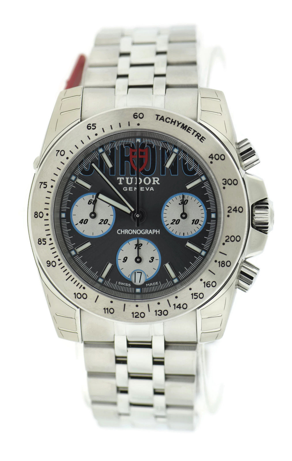 "Image of ""Tudor Sport Chronograph 20300 Grey Dial Stainless Steel 41mm Mens"""