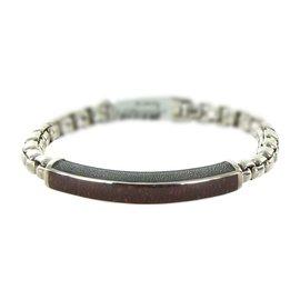 David Yurman 925 Sterling Silver with Tiger Eye Exotic Stone Bracelet
