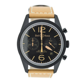 Bell & Ross Vintage Heritage Chronograph BR126 Stainless Steel Black Dial 41mm Mens Watch
