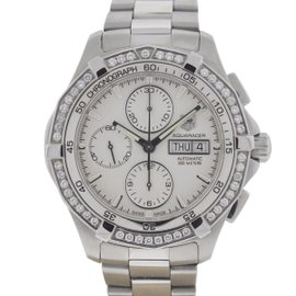 Tag Heuer Aquaracer CAF2015 Stainless Steel Diamond Bezel Automatic 43mm Mens Watch