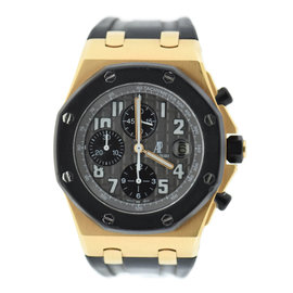 Audemars Piguet Royal Oak Offshore 26178OK.OO.D002CA.01 18K Rose Gold & Rubber 42mm Mens Watch