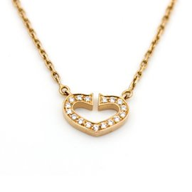 Cartier Heart of Cartier 18K Rose Gold 0.09 Ct Diamond Necklace