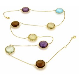 Roberto Coin 18K Yellow Gold Multicolor Gemstone Necklace