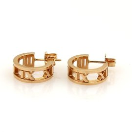 Tiffany & Co. 18K Rose Gold Atlas Small Hoop Earrings