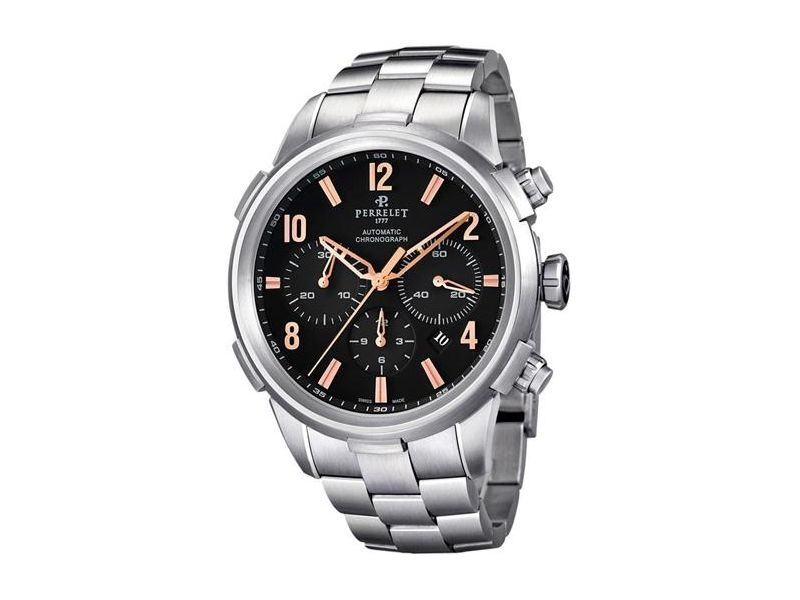 "Image of ""Perrelet Class-T A1069/c Stainless Steel Automatic 44mm Mens Watch"""