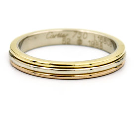 Cartier Vintage 18K Yellow, Rose and White Gold Wedding Band Ring Size 6