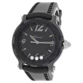 Chopard Happy Sport 28/8507 Ceramic Diamond Quartz 38mm Womens Watch
