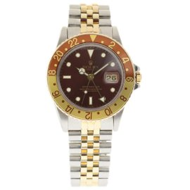 Rolex GMT Master 16753 Stainless Steel & 18K Yellow Gold 40mm Mens Watch