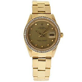 Rolex Date 1510 18K Yellow Gold Vintage 34mm Mens Watch