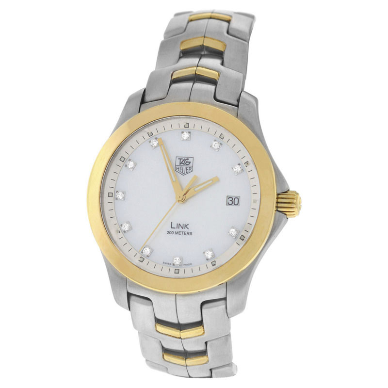 """Image of """"Tag Heuer Link Wjf1153 Stainless Steel & 18K Yellow Gold Quartz 39mm"""""""