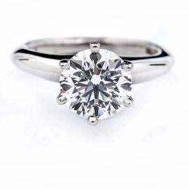 Tiffany & Co. Platinum 1.31ct Diamond Engagement Ring Size 3.0