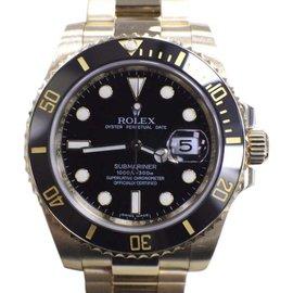 Rolex Submariner 116618 18K Yellow Gold Ceramic 40mm Mens Watch