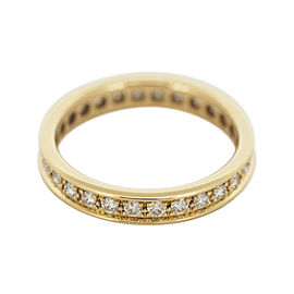 Cartier 18K Yellow Gold Diamonds Eternity Ring Size 5.25