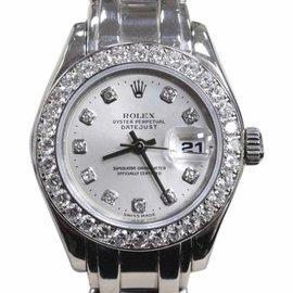 Rolex Pearlmaster 69299 18K White Gold Diamond Dial & Bezel 29mm Womens Watch