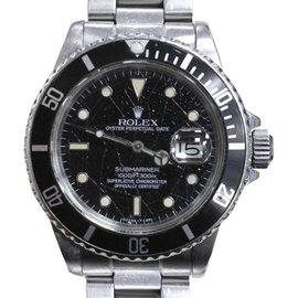 Rolex Submariner 16800 Stainless Steel Rare Spider Web Dial 40mm Mens Watch
