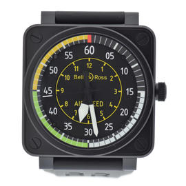 Bell & Ross Aviation Airspeed BR 0192 Stainless Steel Black Dial Automatic 46mm Mens Watch