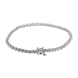 Tiffany & Co. 950 Platinum 4.13tcw Diamond Line Bracelet