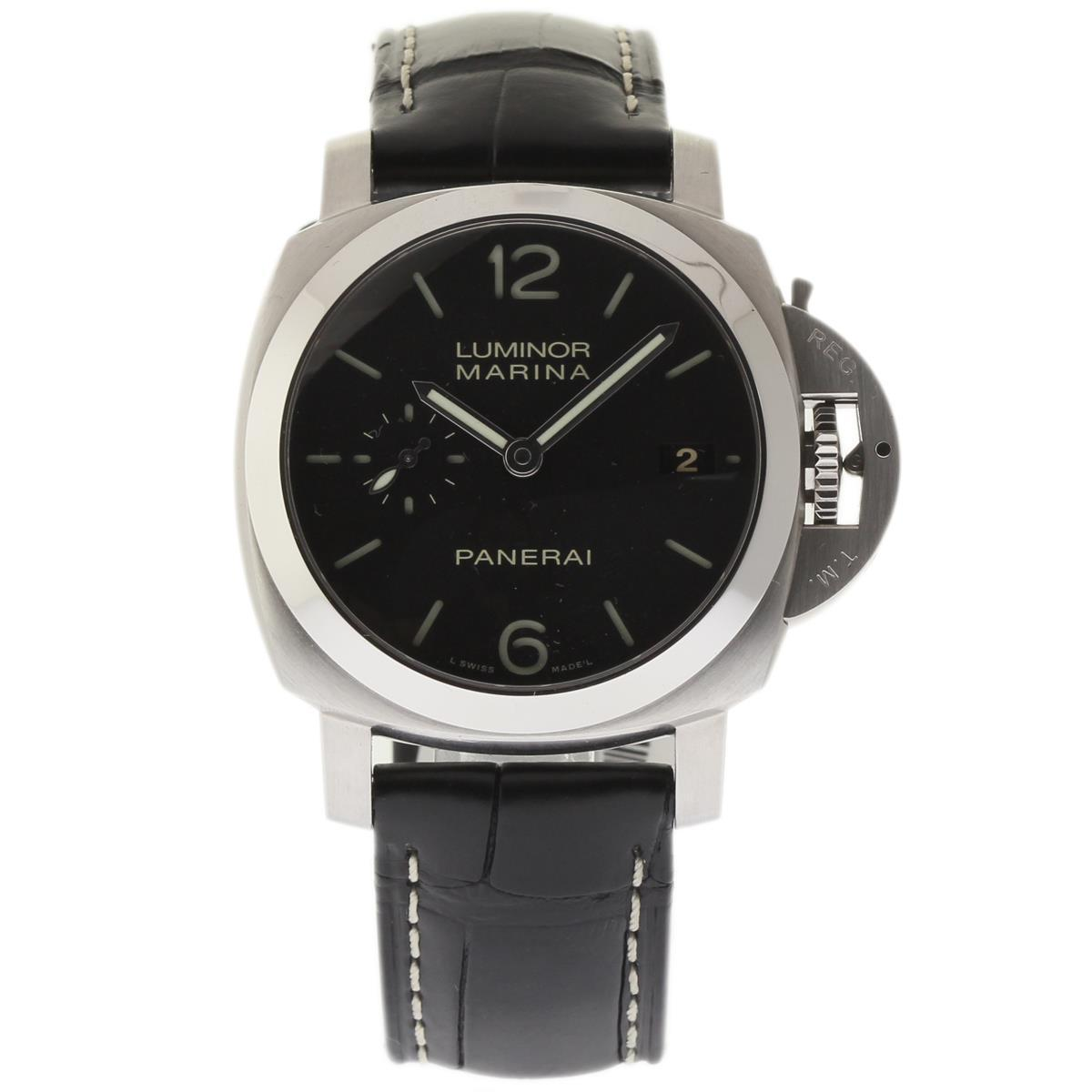 "Image of ""Panerai Luminor Marina Pam00392 Stainless Steel / Leather 42mm Mens"""