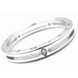 Chimento 18K White Gold Diamond Band Ring Size 9.0