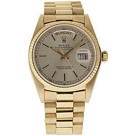 Rolex Day-Date President 18038 Yellow Gold Vintage 36mm Unisex Watch