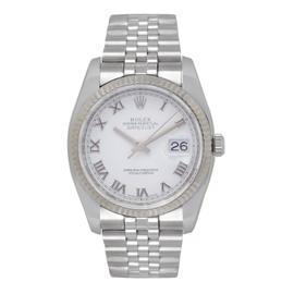Rolex Datejust 116234 Stainless Steel/18K White Gold White Dial Automatic 36mm Mens Watch