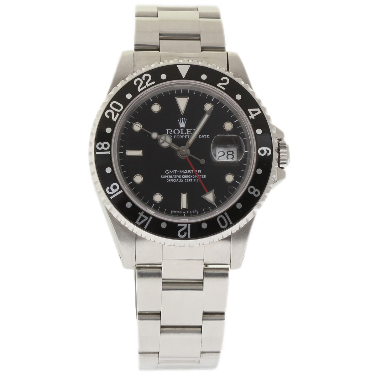 "Image of ""Rolex GMT Master 16700 Stainless Steel Black Dial Automatic 40mm Mens"""