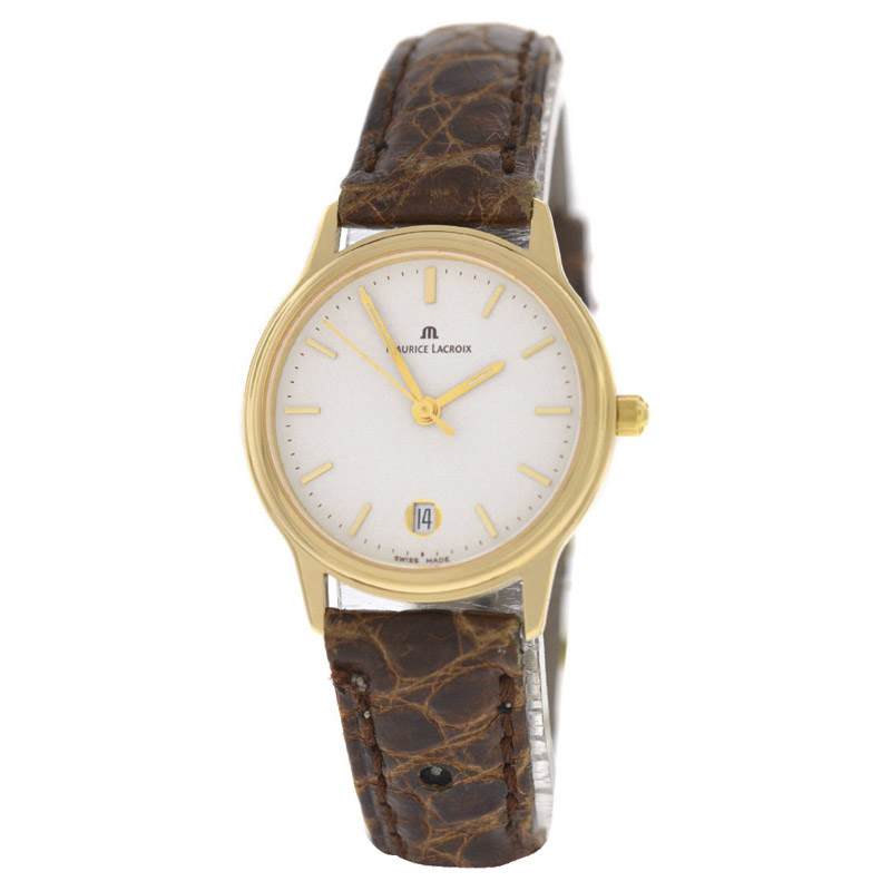 "Image of ""Maurice Lacroix 7189853-08 18K Yellow Gold Quartz 27mm Womens Watch"""