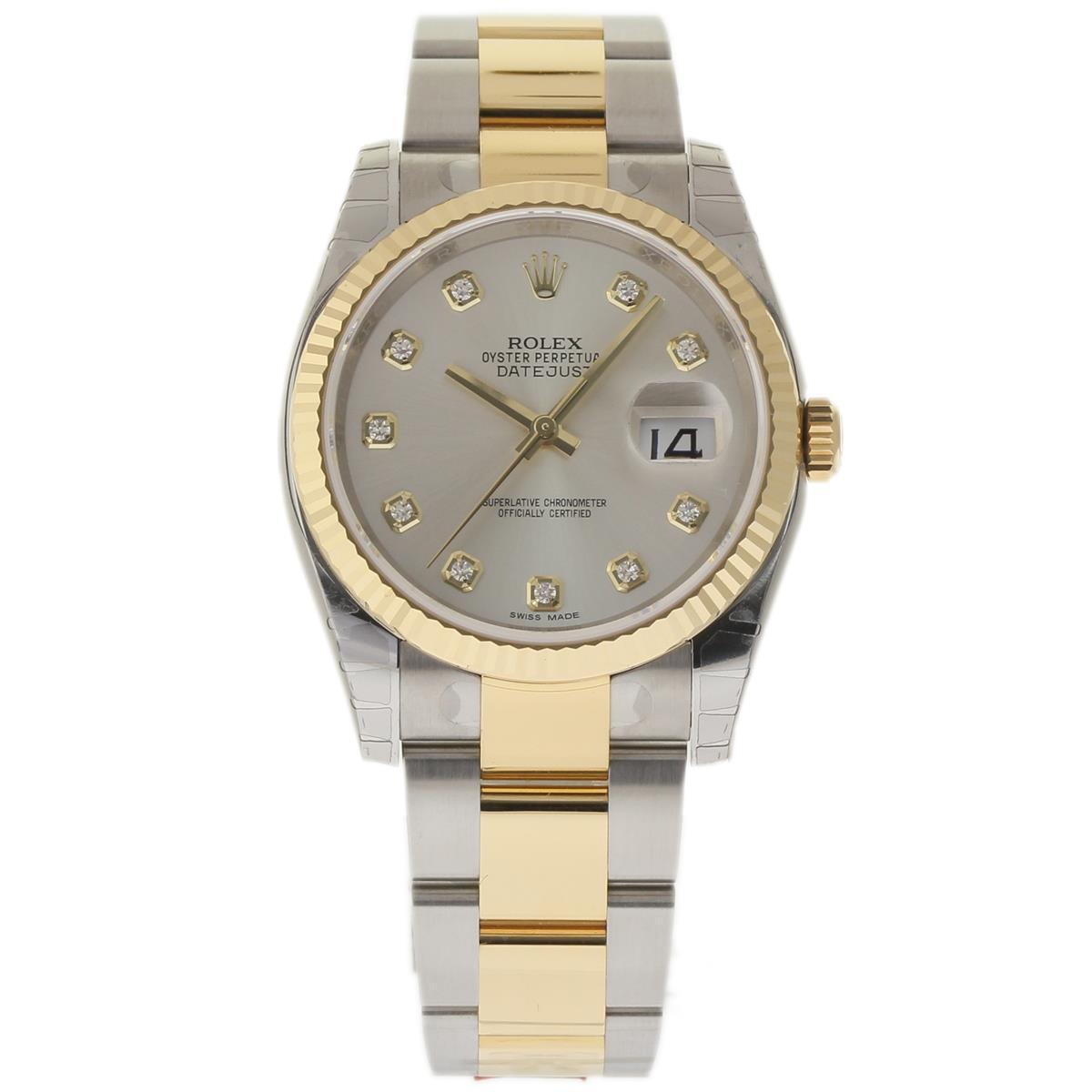 "Image of ""Rolex Datejust 116233 Stainless Steel & 18K Yellow Gold Silver Dial"""