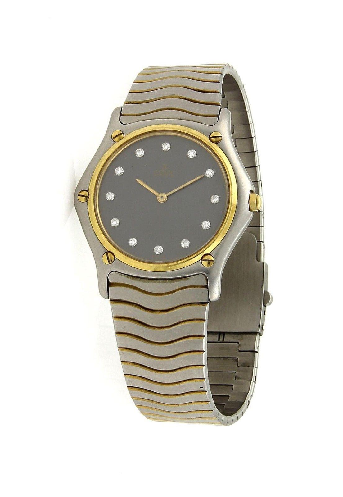 "Image of ""Ebel 18K Yellow Gold / Stainless Steel 35.5mm Mens Watch"""