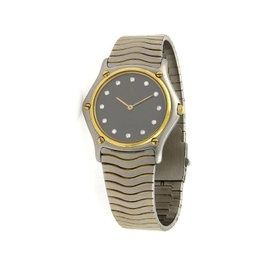 Ebel 18K Yellow Gold / Stainless Steel 35.5mm Mens Watch