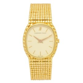 Audemars Piguet 18K Yellow Gold Bracelet Quartz 27mm Unisex Watch