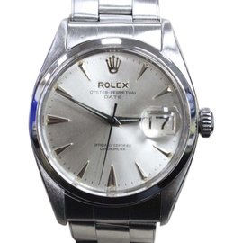 Rolex Oyster Perpetual Date 6534 Stainless Steel Roulette Date 34mm Mens Watch