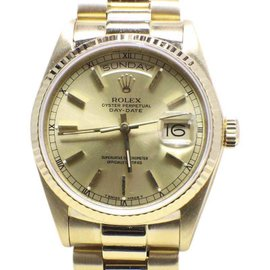 Rolex President Day Date 18038 18K Yellow Gold 36mm Mens Watch