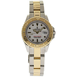 Rolex Yacht-Master 169623 Stainless Steel & 18K Yellow Gold White Dial 29mm Womens Watch