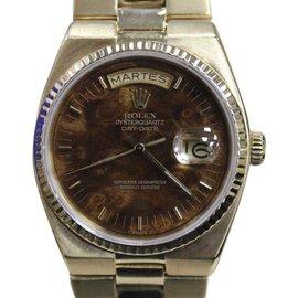 Rolex President Day Date 19018 Quartz 18K Yellow Gold Rare Wood Walnut Dial 36mm Mens Watch