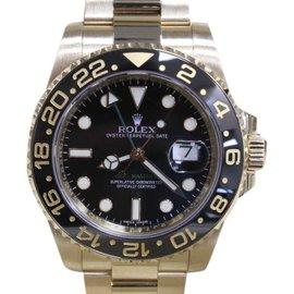Rolex GMT Master II 116718 18K Yellow Gold Black Ceramic 40mm Mens Watch 2016