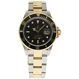 Rolex Submariner 16613 Stainless Steel & 18K Yellow Gold Black Dial 40mm Mens Watch 2007