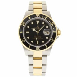 Rolex Submariner 16613 Stainless Steel & 18K Yellow Gold Black Dial Automatic 40mm Mens Watch 2006
