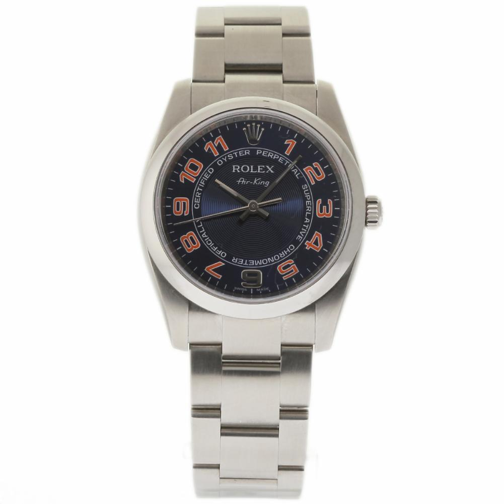 "Image of ""Rolex Air-King 114200 Stainless Steel Blue Dial Automatic 34mm Unisex"""