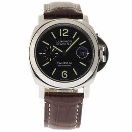 Panerai Luminor Marina PAM00104 Stainless Steel & Leather Automatic 44mm Mens Watch