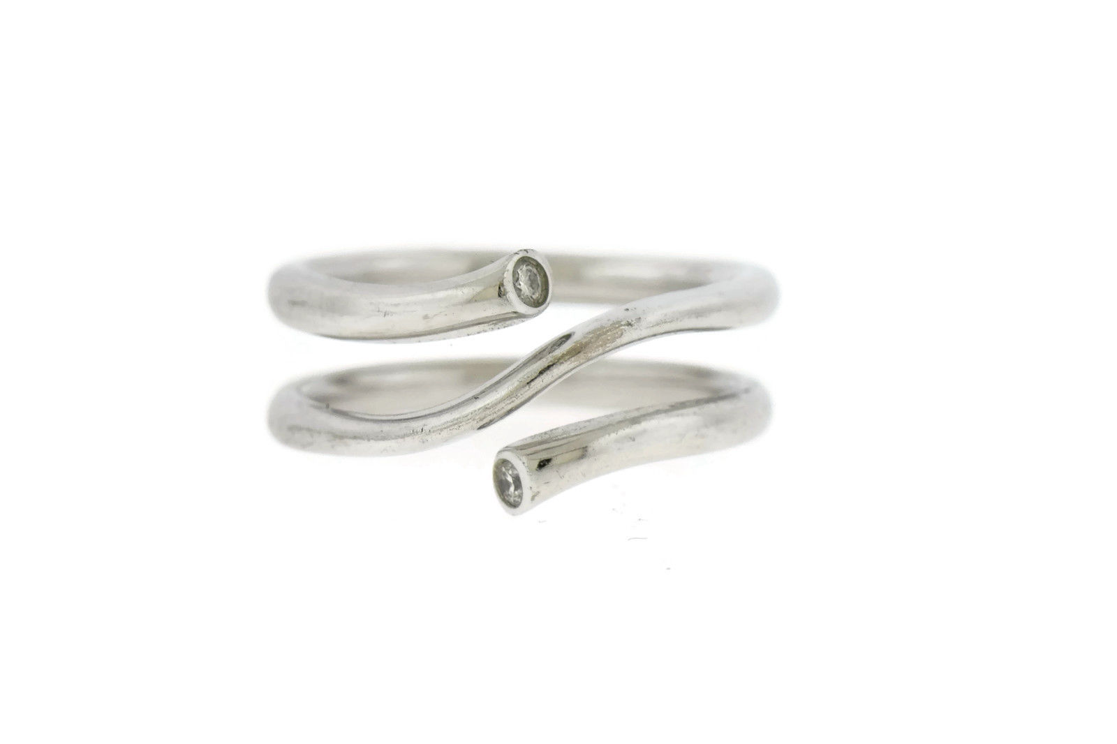 "Image of ""Georg Jensen 18K White Gold Magic Diamond Ring Size 4.5"""