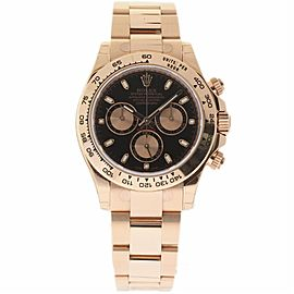 Rolex Daytona 116505 18K Rose Gold Black Dial Automatic 40mm Mens Watch 2017