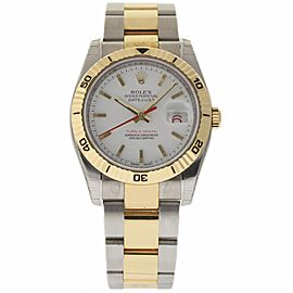 Rolex Datejust 116263 Stainless Steel & 18K Yellow Gold White Dial Automatic 36mm Mens Watch 2007