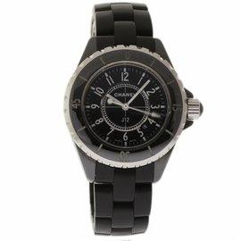 Chanel J12 H0682 Ceramic Black Dial Quartz 33mm Womens Watch