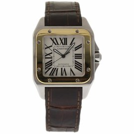 Cartier Santos 100 W20072X7 Stainless Steel 38mm Mens Watch